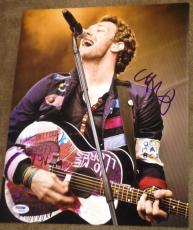 Signed Chris Martin Photograph - Coldplay Performance 11x14 Psa dna W94455