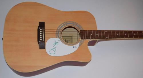 Chris Martin Signed Autograph Full Size Acoustic Guitar CODPLAY Beckett BAS COA