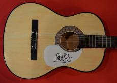 Chris Martin Signed Autographed Acoustic Guitar Coldplay Rare Full Signature