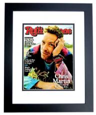 Chris Martin Signed - Autographed COLDPLAY 8x10 inch Photo BLACK CUSTOM FRAME - Guaranteed to pass PSA or JSA