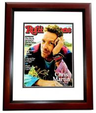 Chris Martin Signed - Autographed COLDPLAY 8x10 inch Photo MAHOGANY CUSTOM FRAME - Guaranteed to pass PSA or JSA
