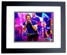 Chris Martin Signed - Autographed COLDPLAY Concert 8x10 inch Photo BLACK CUSTOM FRAME - Guaranteed to pass PSA or JSA