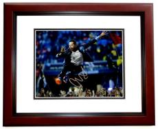 Chris Martin Signed - Autographed COLDPLAY Concert 8x10 inch Photo MAHOGANY CUSTOM FRAME - Guaranteed to pass PSA or JSA