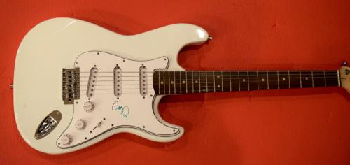 Chris Martin Signed Autographed Guitar Coldplay Lead Singer COA
