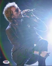 Chris Martin Signed Coldplay 8x10 Photo Authentic Autograph Psa/dna Coa