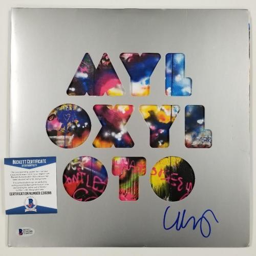 CHRIS MARTIN Signed COLDPLAY MYLO XYLOTO Vinyl LP Set Autograph~ BAS Beckett COA