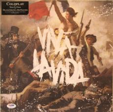 "CHRIS MARTIN Signed COLDPLAY ""Viva La Vida"" Album LP PSA/DNA #AB46741"