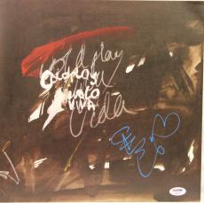 "CHRIS MARTIN Signed COLDPLAY ""Viva La Vida"" Album Sleeve PSA/DNA #AB46749"
