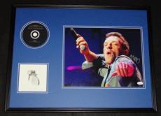 Chris Martin Signed Framed 18x24 Coldplay CD & Photo Display JSA