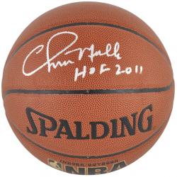 Golden State Warriors Chris Mullin Autographed Basketball - Mounted Memories