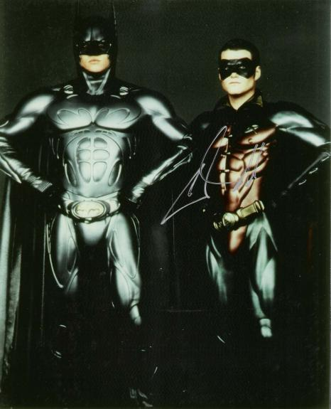 """CHRIS O'DONNELL as DICK GRAYSON/ROBIN in """"BATMAN FOREVER"""" and """"BATMAN & ROBIN"""" Signed 8x10 Color Photo"""
