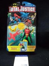 CHRIS O'DONNELL as ROBIN (BATMAN) SIGNED TOTAL JUSTICE FIGURE PSA/DNA V49471