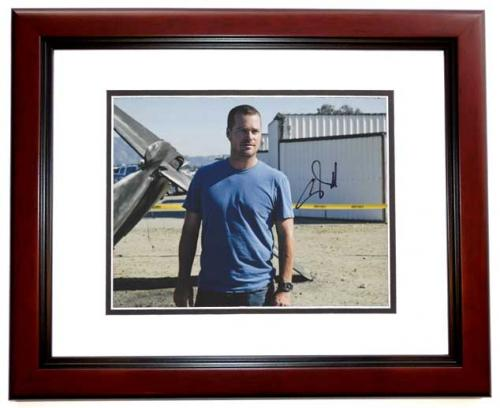 Chris O'Donnell Signed - Autographed NCIS: Los Angeles 8x10 inch Photo MAHOGANY CUSTOM FRAME - Guaranteed to pass PSA or JSA