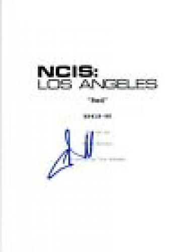 """Chris O'Donnell Signed Autographed NCIS: LOS ANGELES """"Red"""" Episode Script COA VD"""