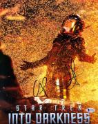 Chris Pine & JJ Abrams Signed 'Star Trek Into Darkness' 11x14 Photo BAS C10986