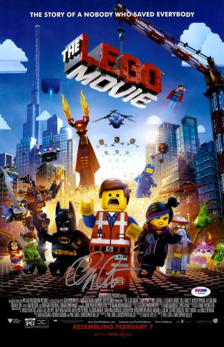 "Chris Pratt Autographed 12"" x 17"" The Lego Movie Movie Poster -PSA/DNA COA"