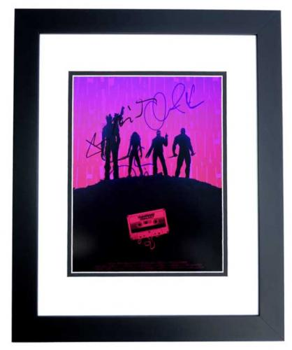 Chris Pratt, Bradley Cooper, Vin Diesel, and Zoe Saldana Signed - Autographed Guardians of the Galaxy 11x14 inch Photo BLACK CUSTOM FRAME - Guaranteed to pass PSA or JSA