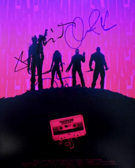 Chris Pratt, Bradley Cooper, Vin Diesel, and Zoe Saldana Signed - Autographed Guardians of the Galaxy 11x14 inch Photo - Guaranteed to pass BAS