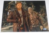Chris Pratt Dave Bautista Signed 11x14 Photo Guardians Of The Galaxy Proof Bas
