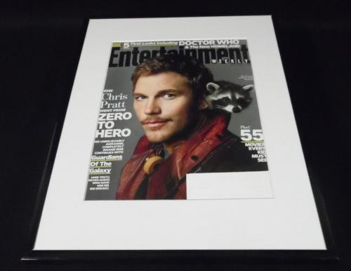 Chris Pratt Framed ORIGINAL 2014 Entertainment Weekly Cover Guardians of Galaxy
