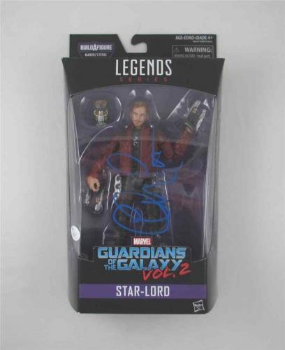 Chris Pratt Guardians Galaxy Avengers Autographed Signed Action Figure JSA COA