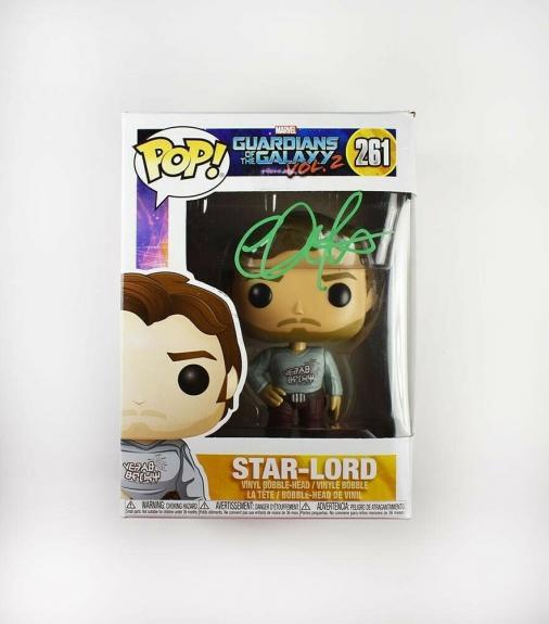 Chris Pratt Guardians Galaxy Avengers Endgame Autographed Signed Funko Pop BAS