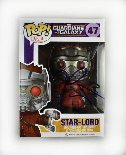 Chris Pratt Guardians Galaxy Avengers Autographed Signed Funko Pop Doll PSA/DNA