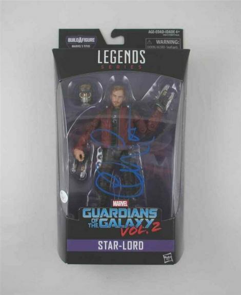 Chris Pratt Guardians Galaxy Avengers Endgame Auto Signed Action Figure JSA COA