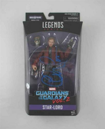 Chris Pratt Guardians Galaxy Avengers Endgame Auto Signed Action Figure JSA COA