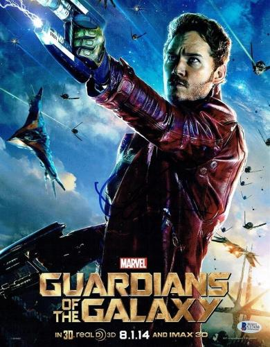 Chris Pratt Guardians of Galaxy Avengers Autographed Signed 11x14 Photo BAS COA