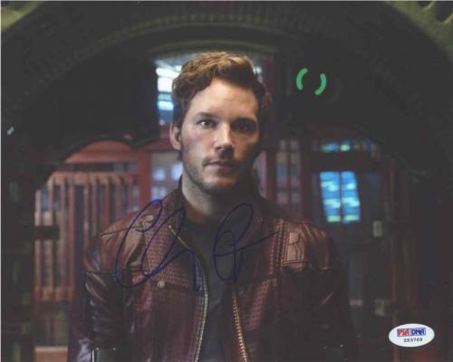 Chris Pratt Guardians of Galaxy Avengers Autographed Signed 8x10 Photo PSA/DNA