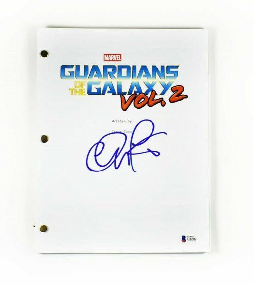 Chris Pratt Guardians Galaxy Avengers Autographed Signed Script Authentic BAS