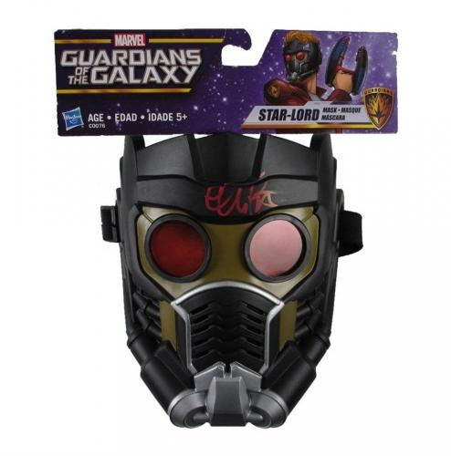 Chris Pratt Guardians of The Galaxy Avengers Autographed Signed Mask JSA COA