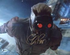 Chris Pratt Guardians of the Galaxy Signed 11X14 Photo BAS #B73213