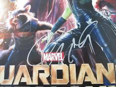 Chris Pratt Guardians Of The Galaxy Signed 12x18 Movie Poster PSA DNA COA Auto