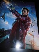 CHRIS PRATT SIGNED AUTOGRAPH 11x14 PHOTO GUARDIANS OF THE GALAXY PROMO COA NY D