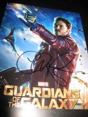 Chris Pratt Signed Autograph 8x10 Photo Guardians Of The Galaxy Promo Coa Auto M