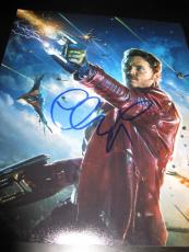 CHRIS PRATT SIGNED AUTOGRAPH 8x10 PHOTO GUARDIANS OF THE GALAXY PROMO RARE X5