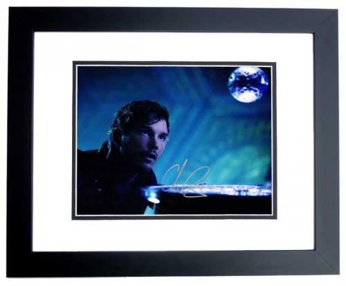Chris Pratt Signed - Autographed Guardians of the Galaxy 8x10 inch Photo BLACK CUSTOM FRAME - Guaranteed to pass PSA or JSA - Parks and Recreation Actor