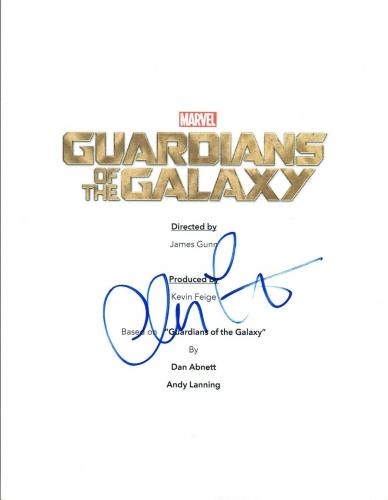 Chris Pratt Signed Autographed GUARDIANS OF THE GALAXY Movie Script COA VD