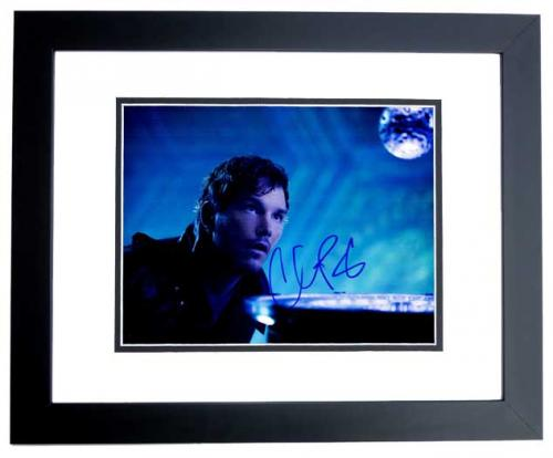 Chris Pratt Signed - Autographed Guardians of the Galaxy Star-Lord 11x14 inch Photo BLACK CUSTOM FRAME - Guaranteed to pass PSA or JSA