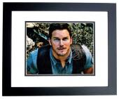 Chris Pratt Signed - Autographed Jurrassic World 11x14 inch Photo BLACK CUSTOM FRAME - Guaranteed to pass PSA or JSA - Parks and Recreation Actor