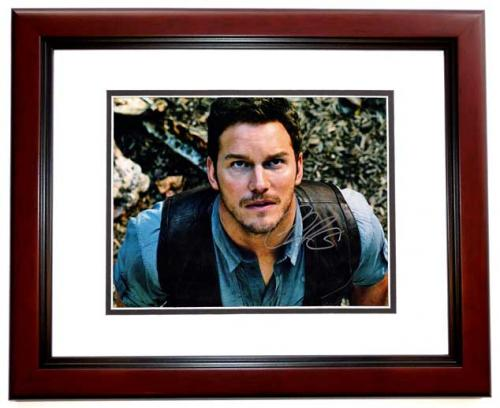 Chris Pratt Signed - Autographed Jurrassic World 11x14 inch Photo MAHOGANY CUSTOM FRAME - Guaranteed to pass PSA or JSA - Parks and Recreation Actor