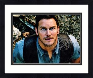 Chris Pratt Signed - Autographed Jurrassic World 11x14 inch Photo - Guaranteed to pass BAS - Parks and Recreation Actor
