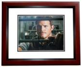 Chris Pratt Signed - Autographed Jurrassic World 8x10 inch Photo MAHOGANY CUSTOM FRAME - Guaranteed to pass PSA or JSA - Parks and Recreation Actor