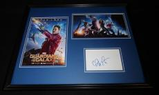 Chris Pratt Signed Framed 16x20 Photo Set JSA Guardians of the Galaxy Star Lord
