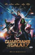 Chris Pratt Signed Guardians Of The Galaxy 11x17 Poster Psa Coa Y58360