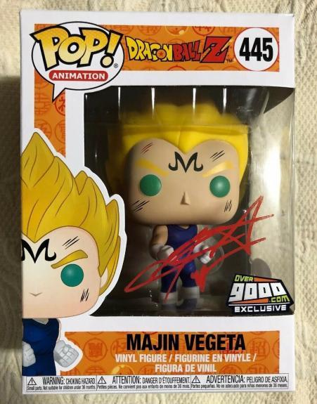 Chris Sabat Signed Autographed Majin Vegeta Funko Pop Over 9000 JSA COA 3