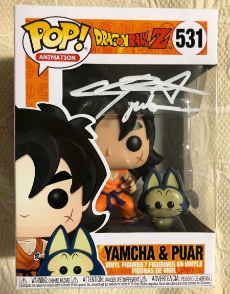 Chris Sabat Signed Autographed Yamcha & Puar Funko Pop Dragon Ball Z JSA COA