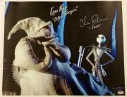 CHRIS SARANDON + KEN PAGE Signed 16x20 Canvas Photo Nightmare Before Xmas PSA